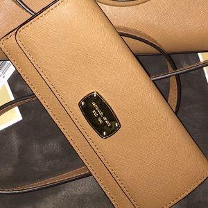 Michael Kors Wallet tan/Acorn leather